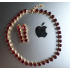 Parure bijoux AGATHA Rouge, bordeaux