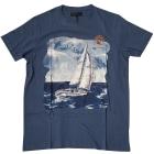 Tee-shirt TRUSSARDI Bleu, bleu marine, bleu turquoise