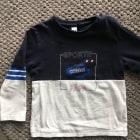 Top, tee shirt 3 POMMES Bleu, bleu marine, bleu turquoise