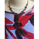 Collier CAMAIEU Rouge, bordeaux
