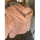 Manteau en fourrure GIORGIO Rose, fuschia, vieux rose