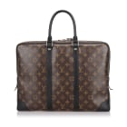 Porte documents, serviette LOUIS VUITTON Brown