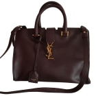 Leather Handbag YVES SAINT LAURENT Chyc Red, burgundy