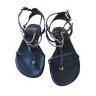 Sandales plates  STUART WEITZMAN Bleu, bleu marine, bleu turquoise