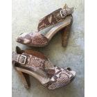 Sandales à talons JANET & JANET Beige, camel