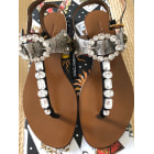 Sandales plates  DOLCE & GABBANA Marron