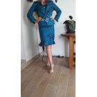 Tailleur jupe UN JOUR AILLEURS Bleu, bleu marine, bleu turquoise