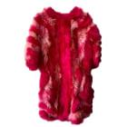 Manteau en fourrure SONIA RYKIEL Rose, fuschia, vieux rose