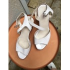 Sandales compensées ANDRÉ Blanc, blanc cassé, écru