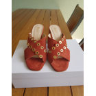 Sandales à talons ERAM Rouge, bordeaux