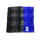 Silk Scarf YVES SAINT LAURENT Blue, navy, turquoise