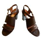 Sandales à talons LANVIN Marron