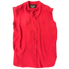 Blouse MOSCHINO Rouge, bordeaux