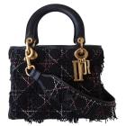 Leather Shoulder Bag DIOR LADY DIOR Black