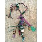 Long Necklace REMINISCENCE Purple, mauve, lavender