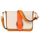 Leather Shoulder Bag VANESSA BRUNO Beige, camel