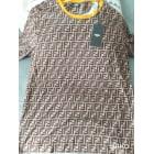 Tee-shirt FENDI Marron