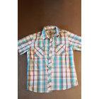 Chemise QUIKSILVER bleu clair, turquoise,rouge,blanc, gris