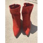 Bottines & low boots à talons JUSTFAB Rouge, bordeaux