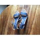 Sandales compensées UNISA Bleu, bleu marine, bleu turquoise
