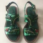 Sandales plates  DOLCE & GABBANA Vert