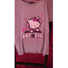 Top, Tee-shirt HELLO KITTY gris