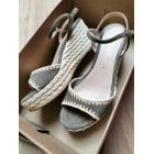 Sandales compensées UNISA Kaki