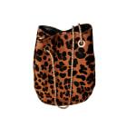 Leather Shoulder Bag SÉZANE Animal prints