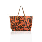Sac à main en tissu LOUIS VUITTON Neverfull Orange