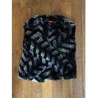 Manteau en fourrure DERHY Noir