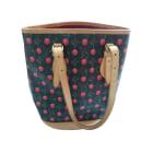 Leather Shoulder Bag LOUIS VUITTON Bucket Multicolor