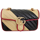 Leather Shoulder Bag GUCCI Marmont Beige, camel