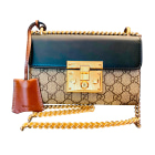 Leather Shoulder Bag GUCCI Multicolor