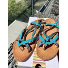 Sandales plates  LES TROPÉZIENNES PAR M. BELARBI Bleu, bleu marine, bleu turquoise