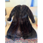 Manteau en fourrure VINTAGE Noir