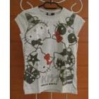 Top, Tee-shirt HELLO KITTY Gris, anthracite