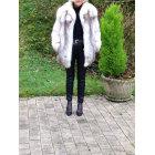 Manteau en fourrure FOURRURES DE LA MADELEINE Argenté, acier
