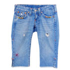 Jeans large, boyfriend TRUE RELIGION Bleu, bleu marine, bleu turquoise
