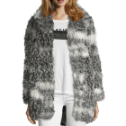 Manteau en fourrure IKKS Gris, anthracite