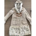Manteau en fourrure SHEARLING Blanc, blanc cassé, écru
