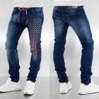 Jeans droit SIXTH JUNE Bleu, bleu marine, bleu turquoise