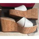Sandales compensées VINCE CAMUTO Blanc, blanc cassé, écru