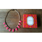 Collier STELLA & DOT Rose, fuschia, vieux rose