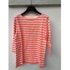 Top, Tee-shirt J CREW Ecru et orange