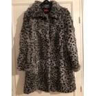Manteau en fourrure DERHY Gris, anthracite