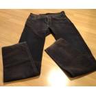 Jeans droit FAÇONNABLE Marron