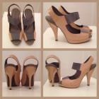 Sandales compensées BCBG MAX AZRIA Beige nude camel, gris