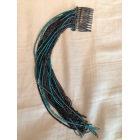 Bijoux de tête MAISON MICHEL Bleu, bleu marine, bleu turquoise