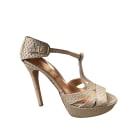 Sandales à talons ANN TUIL Beige, camel