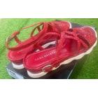 Sandales plates  PONS QUINTANA Rouge, bordeaux